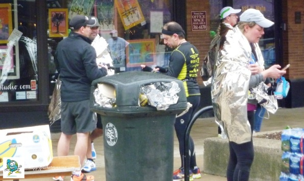 A2 Marathon 2017 - Blankets and Overflowing Bin