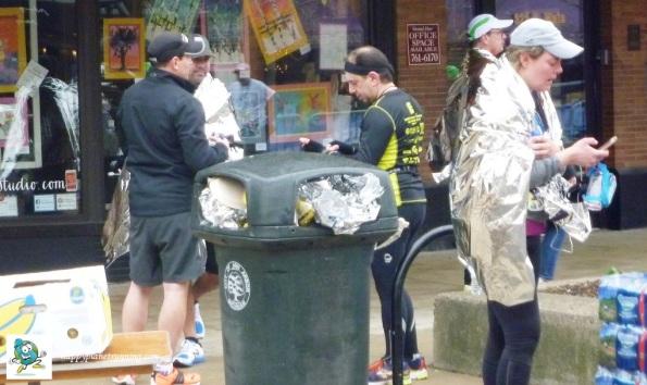 A2 Marathon 2017 - Blankets and Overflowing Bin