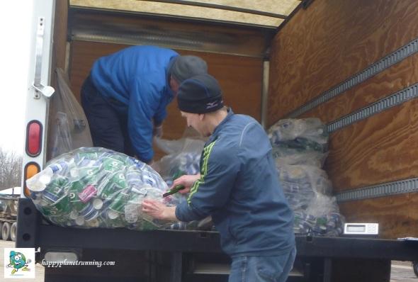 A2 Marathon 2017 - Sorting Aid Station Trash