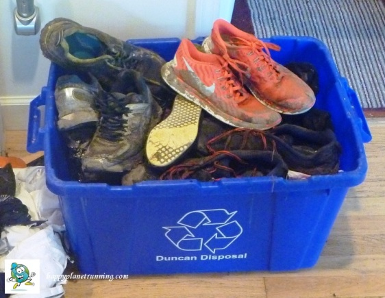 Run Woodstock - Rescued Shoes - before cleanup