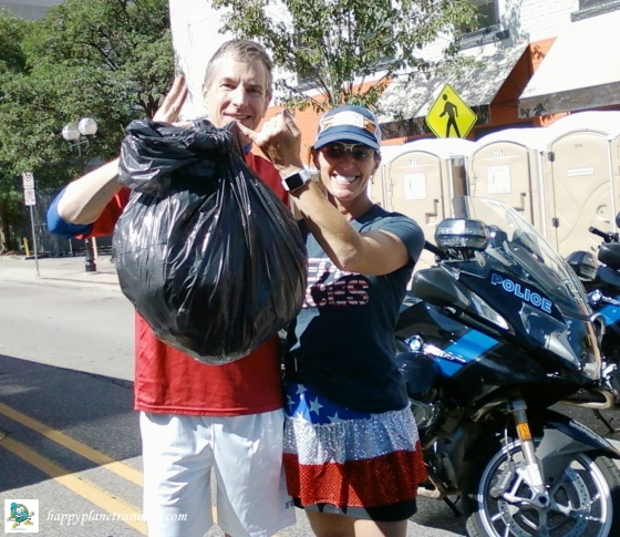 Firecracker 5K - single bag of trash