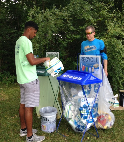 Huron River Day - Me at Zero Waste station