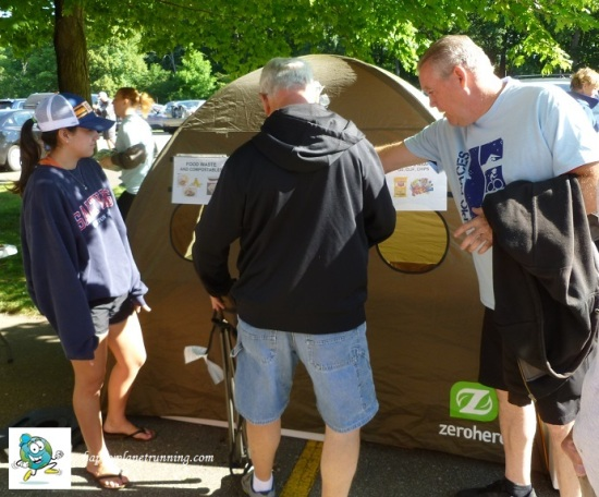 Tri Goddess 2017 - Volunteer assisting participants with tent