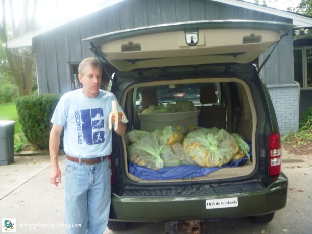 Composting Bananas - entire load