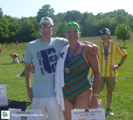 Swim to the Moon - Me with Best Race Ever lady