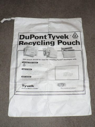 Tyvek return pouch