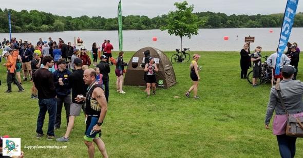 Island Lake Triathlon 2018 - Tent by finish area in use.jpg