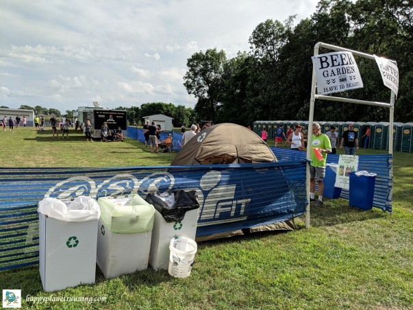 Oberun 2018 - Beer garden entrance Zero Waste stations