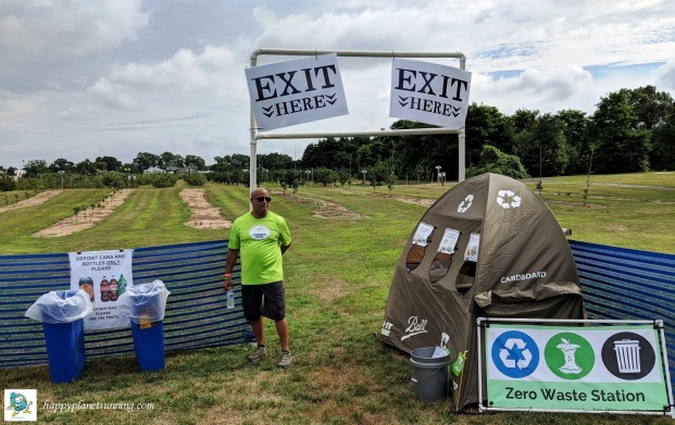 Oberun 2018 - Beer garden exit Zero Waste station