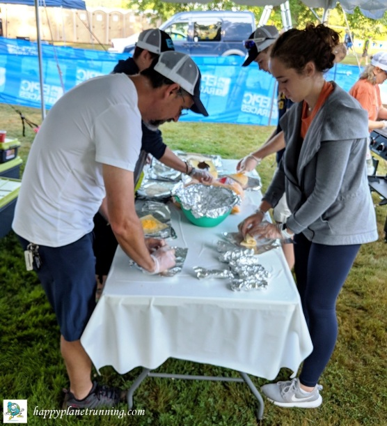 Ann Arbor Triathlon 2018 - Building Egg and Cheese Burritos