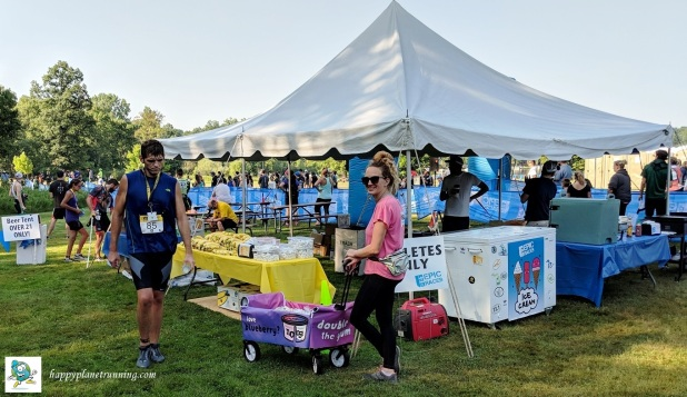 Ann Arbor Triathlon 2018 - Food and beer area - with yogurt vendor