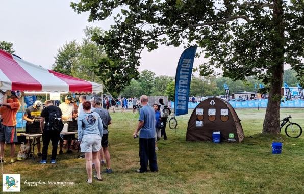 Ann Arbor Triathlon 2018 - Tent by registration area