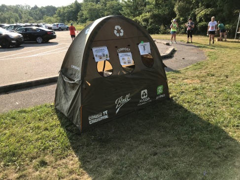 The Legend 2018 - tent by parking lot