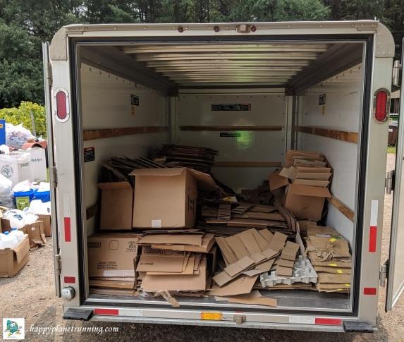 Vines 2018 - finish line cardboard in trailer