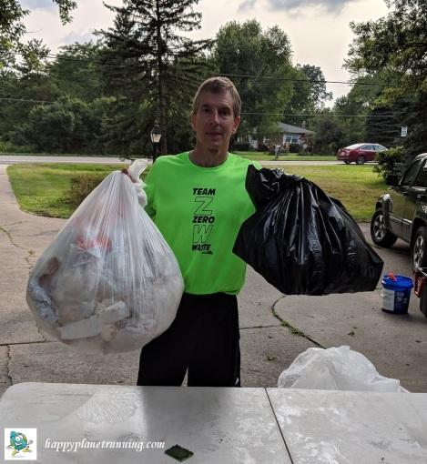 Vines 2018 - Single bag of trash plus bag of broken glass