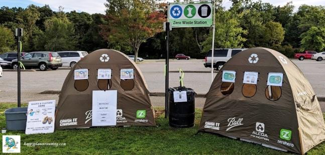 DWD Hell 2018 - Fully set up Zero Waste station