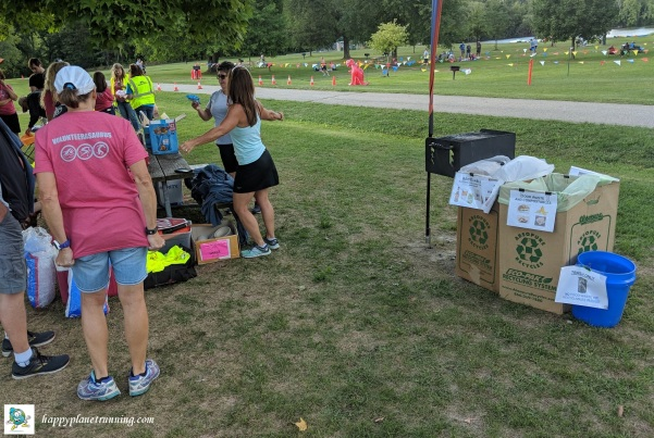T-Rex Tri 2018 - Volunteer area bins