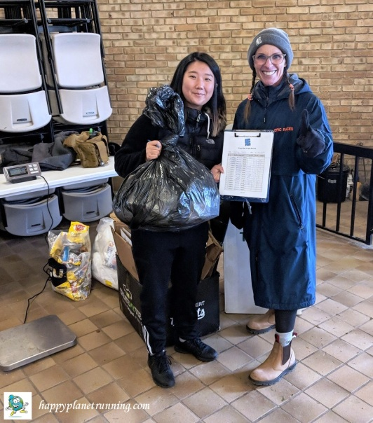 Epic TT 2018 - Eva and Eunice with single bag of trash