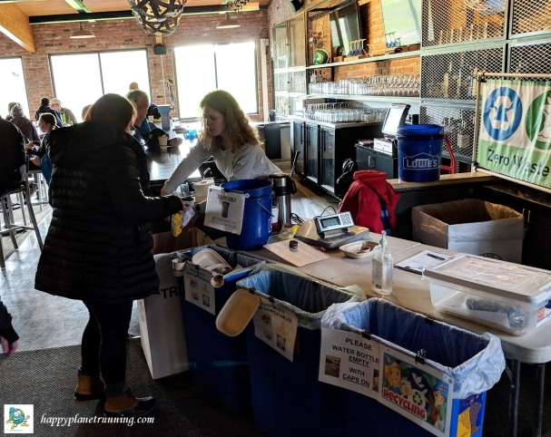 Hot Cocoa Classic 2018 - Helping runners at waste station