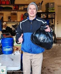 Holiday Hustle 2018 - Me with single bag of trash