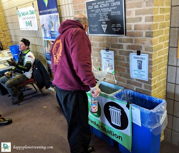 frosty freestyle 2019 - zero waste station at end
