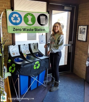 frosty freestyle 2019 - zero waste station by exit with emily