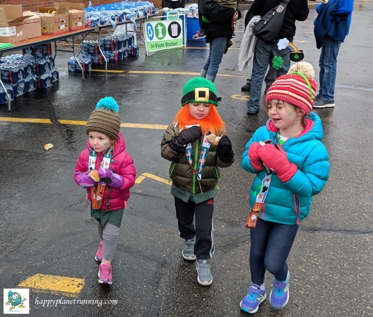 Shamrocks and Shenanigans 2019 - Kids after food table