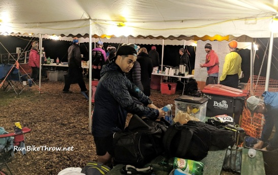 Potawatomi Trail 2019 - Base camp before 50 mile start