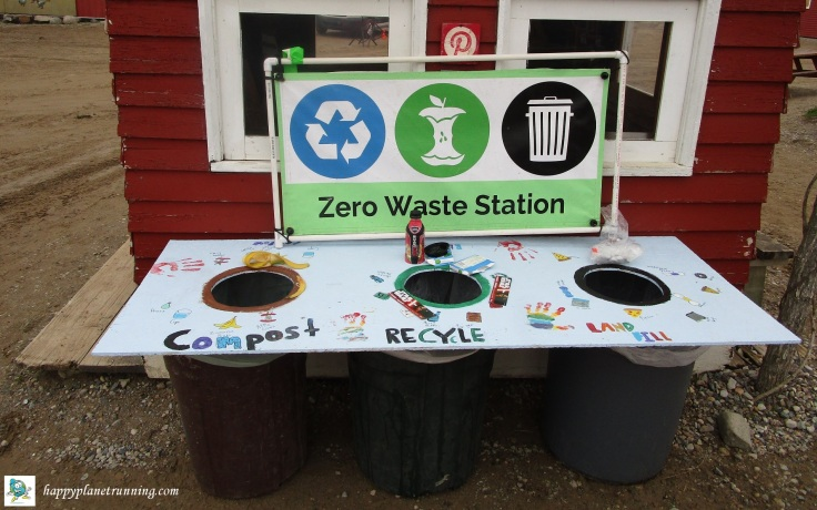 Upland Hills 10K 2019 - Main Zero Waste station