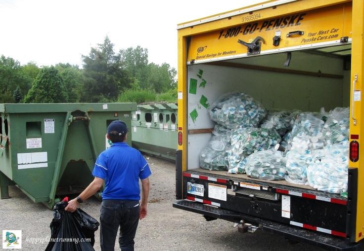 DXA2 2019 - Disposing of bags of cups at WWRA
