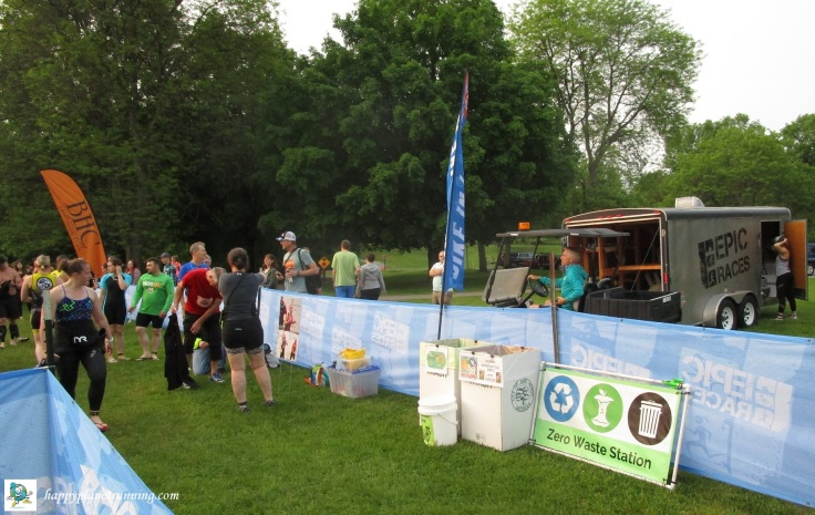 Island Lake Tri 2019 - Waste station at transition entrance