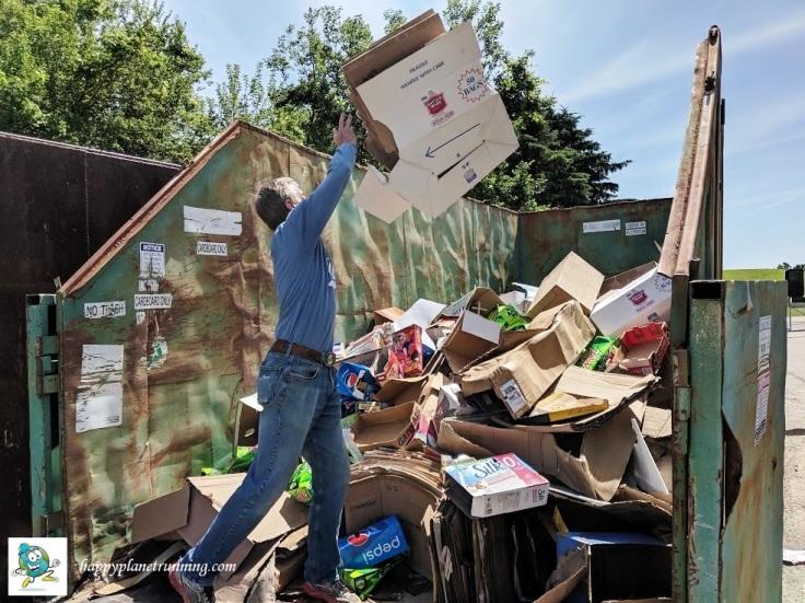 Oberun Ypsi 2019 - Me at WWRA tossing cardboard