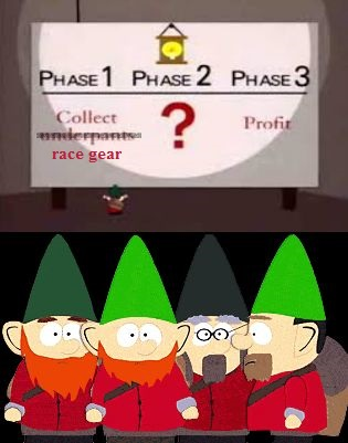 Gnomes stealing race gear