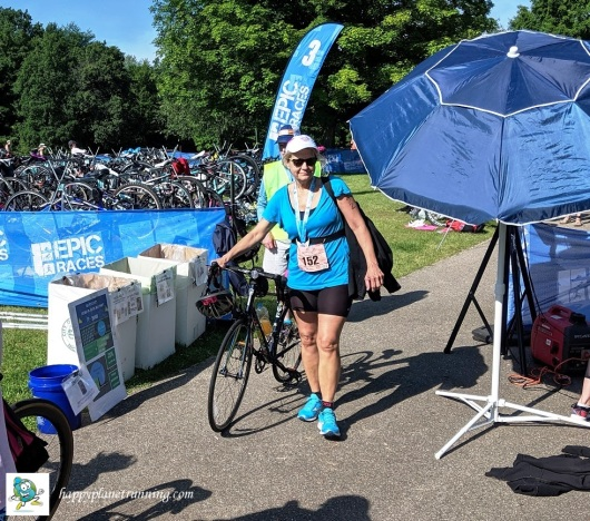 Tri Goddess Tri 2019 - Zero Waste station at checkout