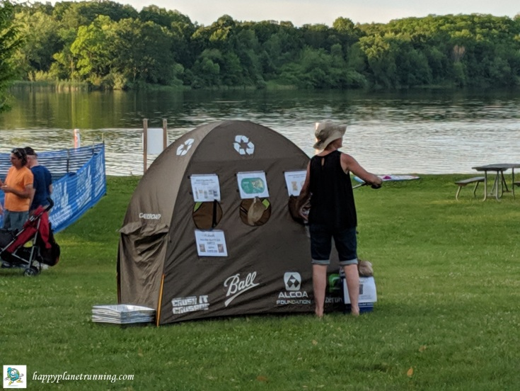 Triceratops Tri 2019 - Lisa sorts a tent