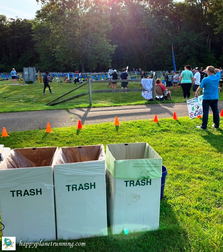 Ann Arbor Triathlon 2019 - Zero Waste station by transition