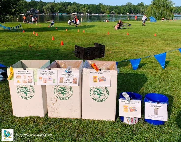 Ann Arbor Triathlon 2019 - Zero Waste station
