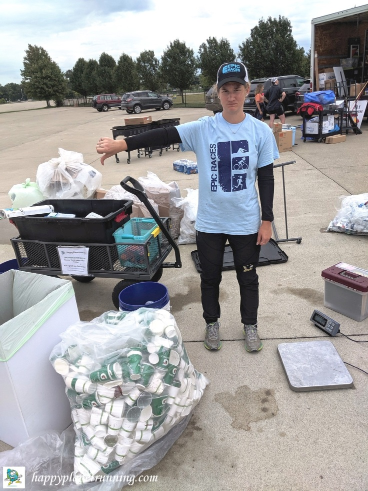 Women Run the D 2019 - Robin with a badly sorted aid station bag