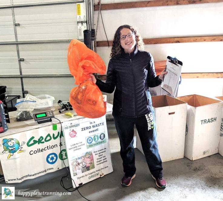 Go Apples 2019 - Sarah with single bag o trash