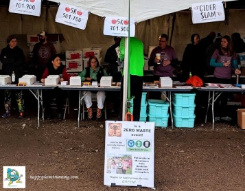 Scrumpy 2019 - Zero Waste sign at registration