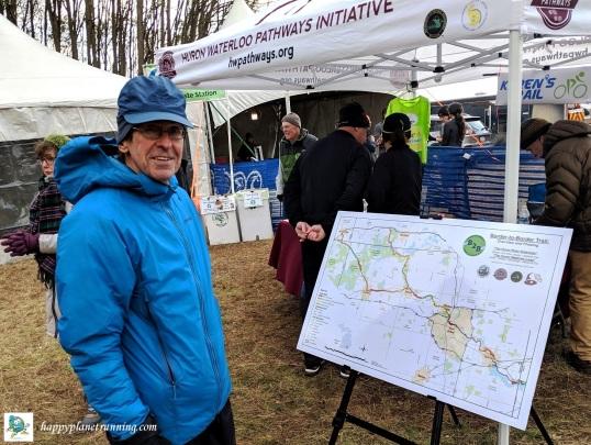 Bonfyre 2019 - Lew shows newest HWPI trail plans
