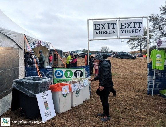 Bonfyre 2019 - waste station by exit