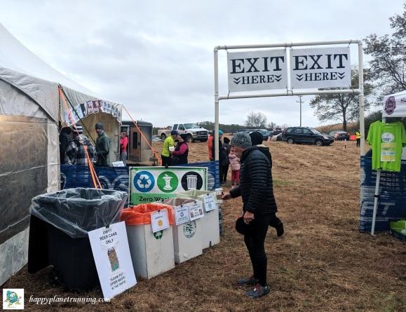 Bonfyre 2019 - waste station by exit