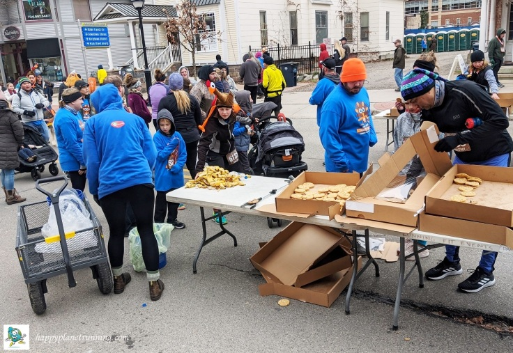 RF Turkey Trot 2019 - Banana peels on table